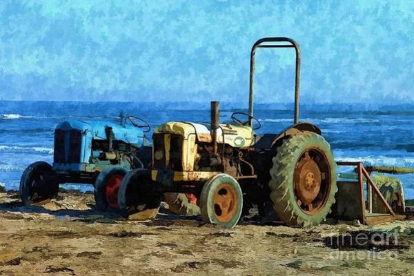 Beach Tractors Photo Art Poster