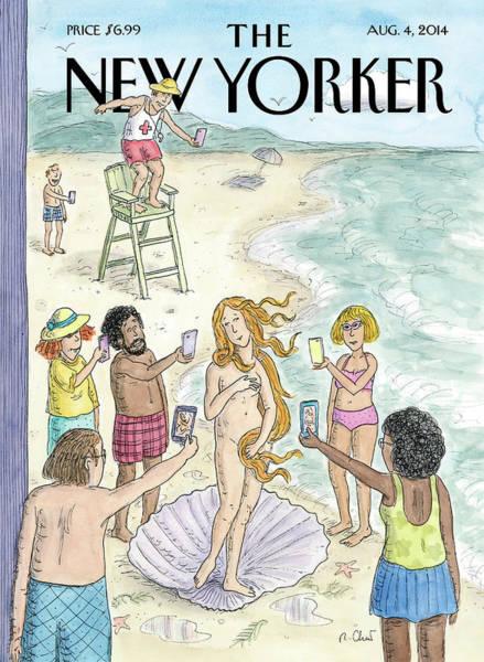 Venus On The Beach Poster