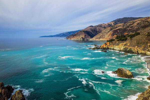 Poster featuring the photograph Beautiful Big Sur With Bixby Bridge by Priya Ghose