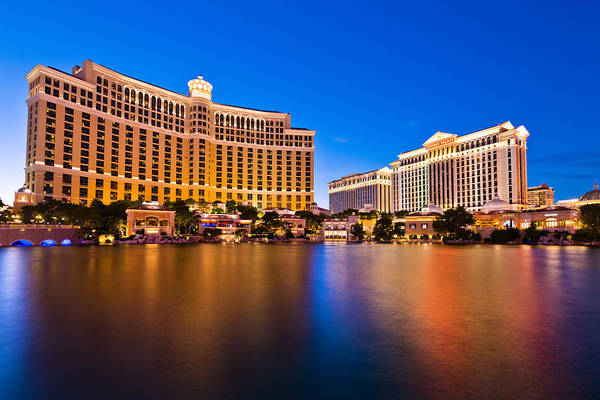 Bellagio And Caesars Poster