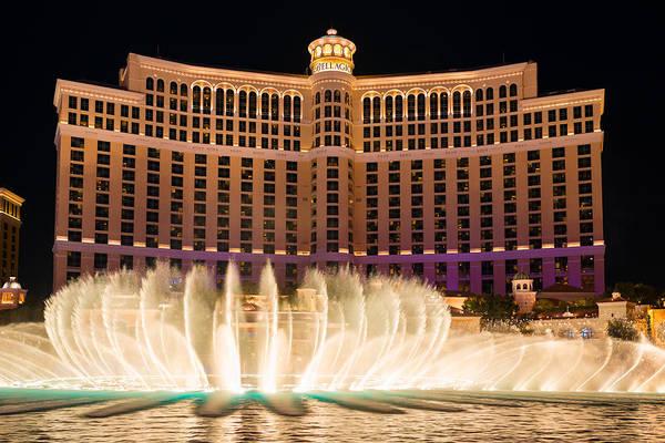Bellagio Hotel And Casino Fountain  Poster