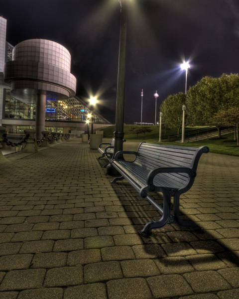 Bench At The Rock Hall Poster