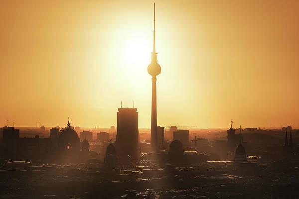 Berlin - Skyline Sunrise Poster
