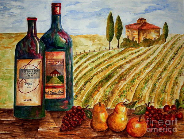 Bernhardt And Retreat Hill Winery Poster
