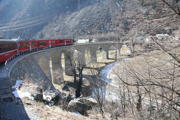 Bernina Express In Winter Poster