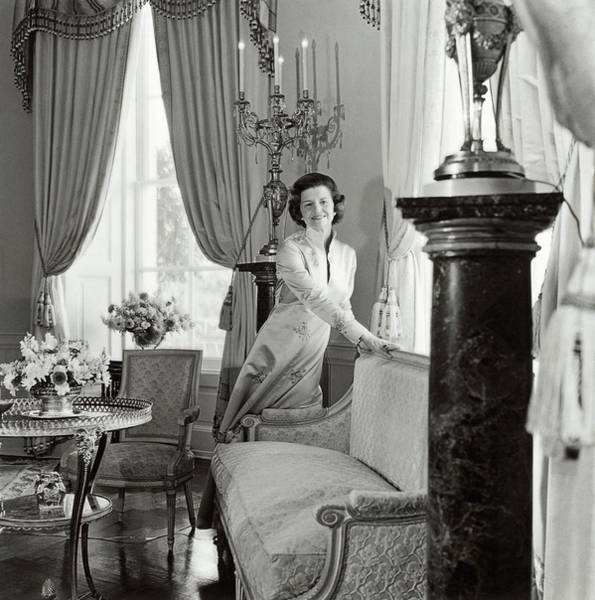 Betty Ford In The Oval Room Of The White House Poster