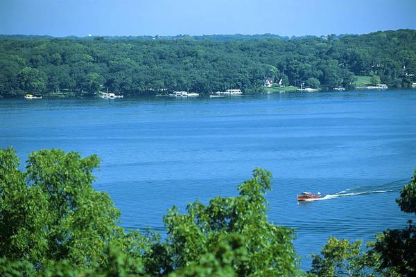 Between Green Shores - Lake Geneva Wisconsin Poster
