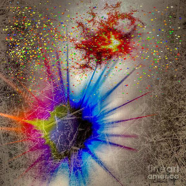 Poster featuring the digital art Big Bang by Eleni Mac Synodinos