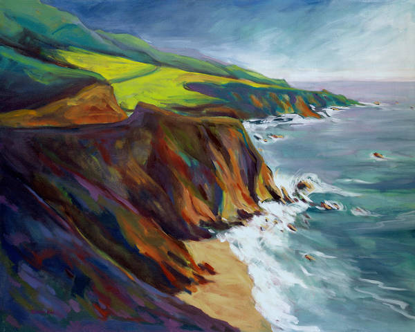 Poster featuring the painting Big Sur 1 by Konnie Kim