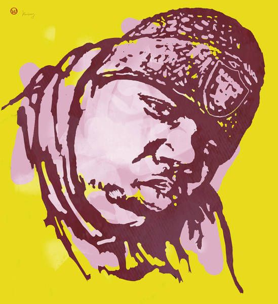 Biggie Smalls Modern Colour Etching Art  Poster Poster