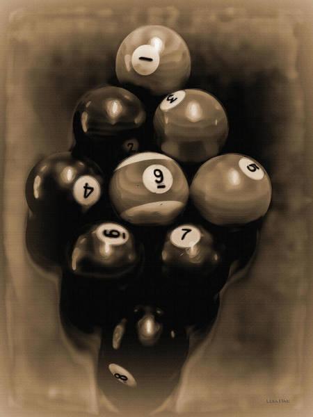 Billiards Art - Your Break - Bw Opal Poster