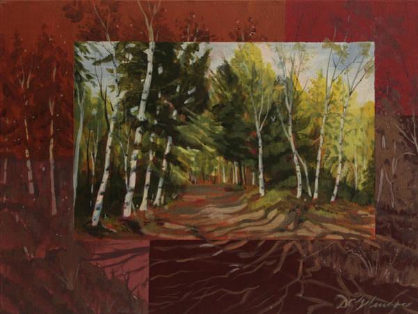 Birches Along The Lane Poster