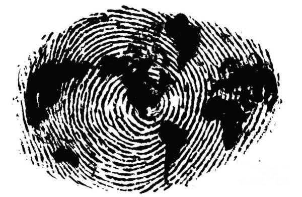 black and white ink print poster One of a Kind Global Fingerprint Poster