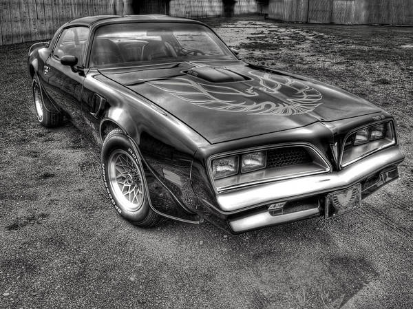 Black And White Trans Am Poster