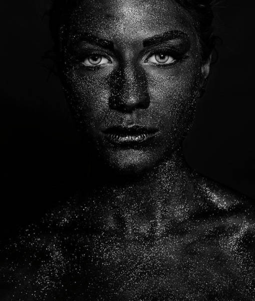 Black Face Poster