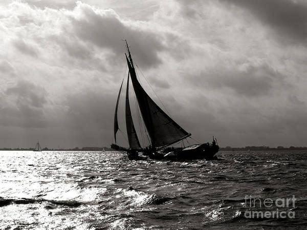 Black Sail Sunset Poster