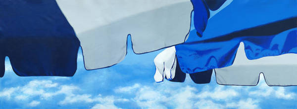 Blue Beach Umbrellas 2 Poster