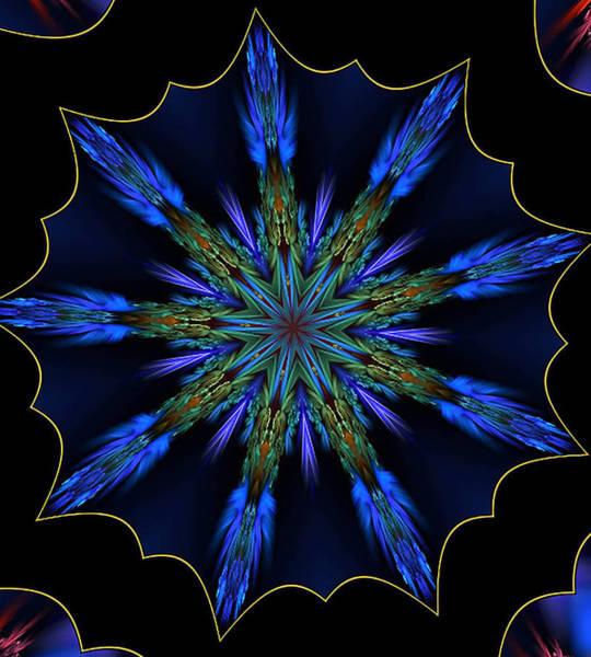 Blue Danube Kaleidoscope Poster