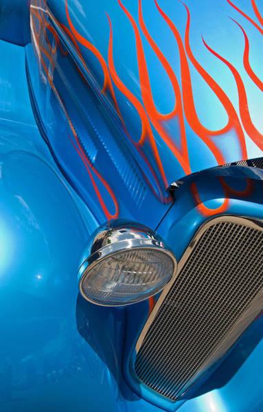 Blue Hot Rod Poster