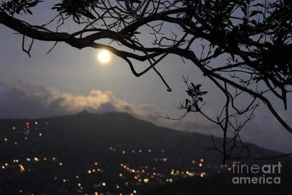 Blue Moon Over El Yunque Poster