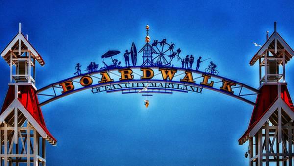 Boardwalk Arch In Ocean City Poster