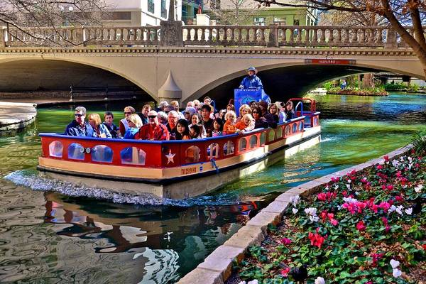 Boat Ride At The Riverwalk Poster