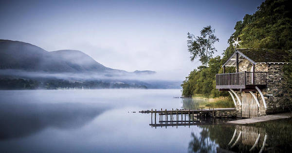 Boathouse At Pooley Bridge Poster