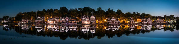 Boathouse Row Panorama Poster