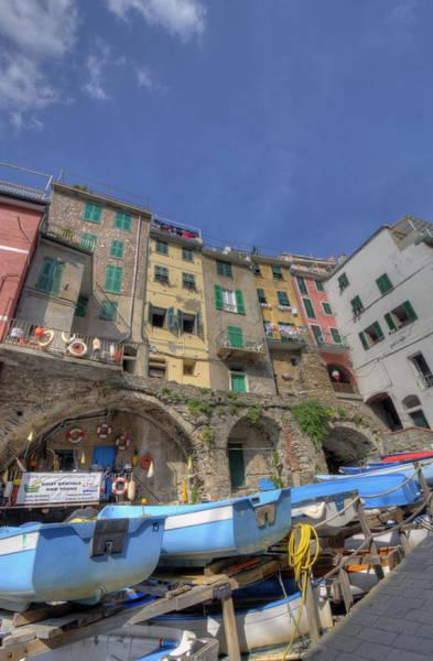 Boats In Riomaggiore Poster