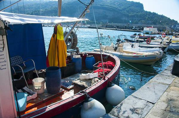 Boats In The Portovenere Harbor 2 Poster