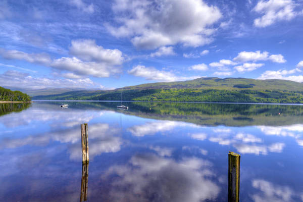 Boats On Loch Tay Poster