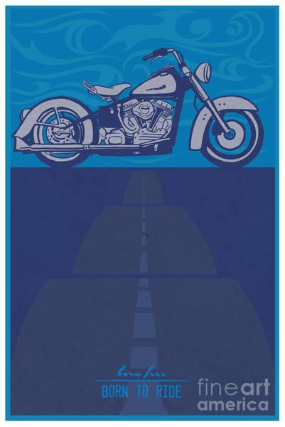 Born Free Born To Ride Poster