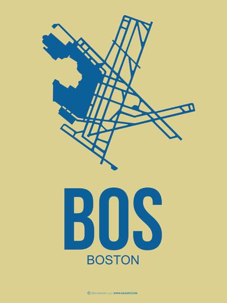 Bos Boston Airport Poster 3 Poster