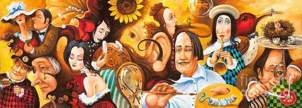 Bosch's Jingles Dali's Moustache And Ear Of Vangough Make Me Restless Poster