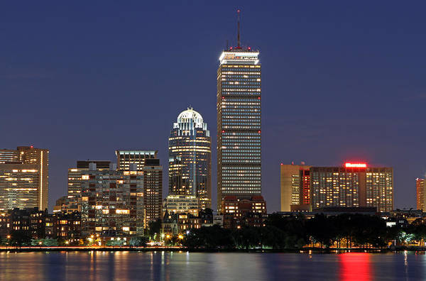 Boston Landmarks And Sheraton Hotel Poster