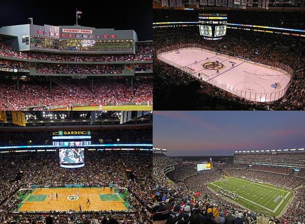 Boston Sports Teams And Fans Poster