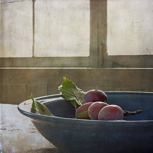 Bowl Full Of Plums Poster