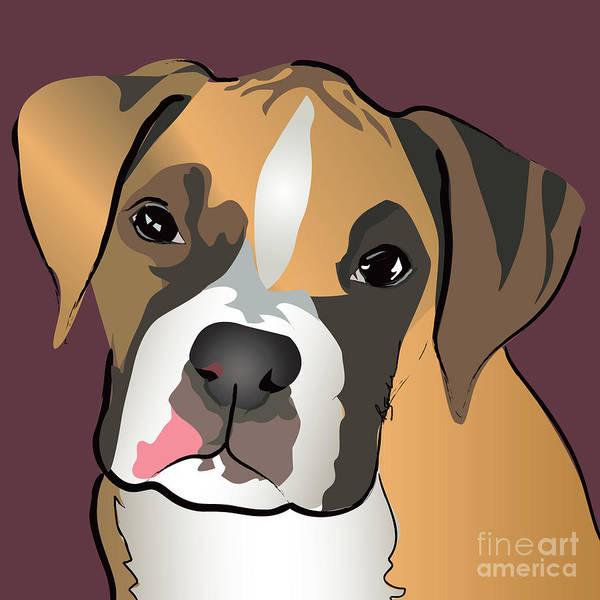 Boxer Puppy Pet Portrait  Poster