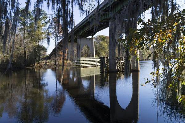 Bridge Over The Waccamaw On An Autumn Afternoon Poster