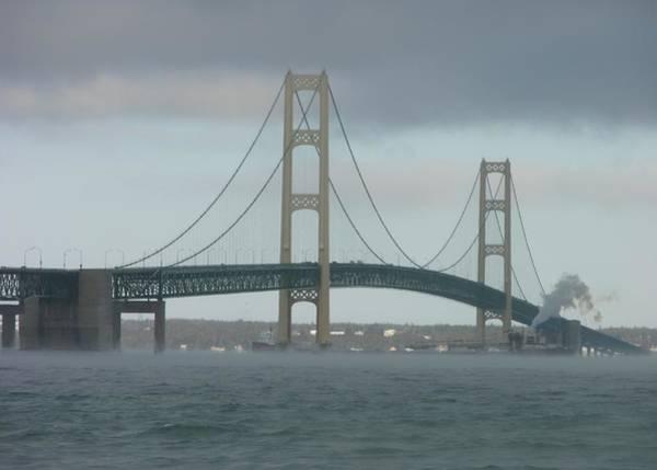 Bridge With Haze Poster
