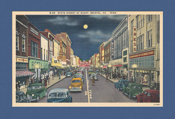 Bristol At Night In The 1940's Poster