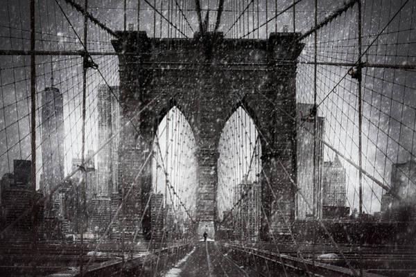 Brooklyn Bridge Snow Day Poster