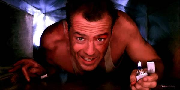 Bruce Willis In The Film Die Hard - John Mctiernan 1988 Poster