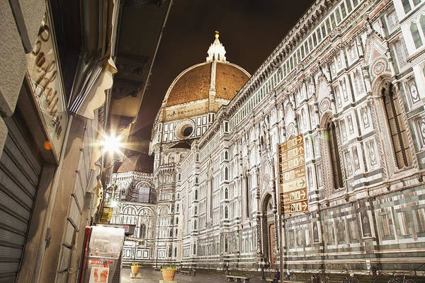 Buildings And Florence Cathedral Poster
