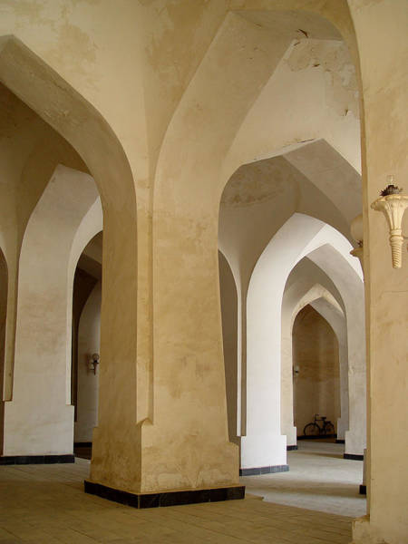 Bukhara Great Mosque Pillars Poster