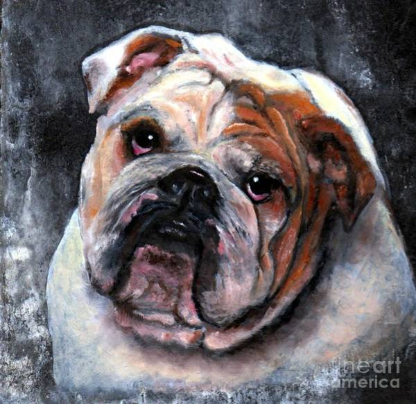 Poster featuring the painting Bulldog by Wendy Ray