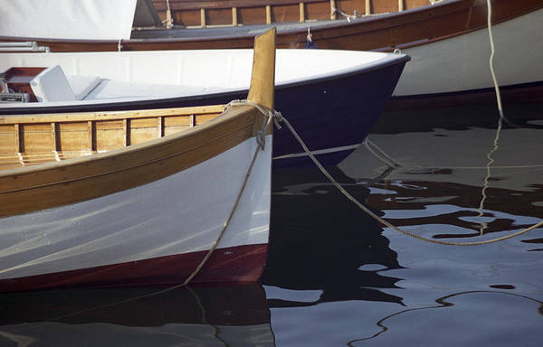 Burgundy Boat Poster