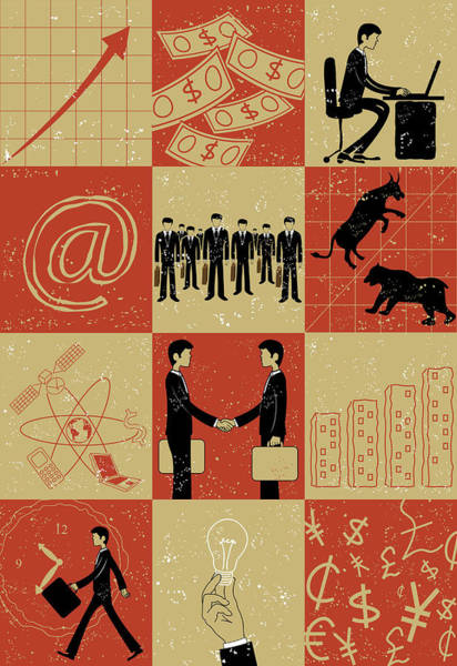 Business And Stock Market Poster