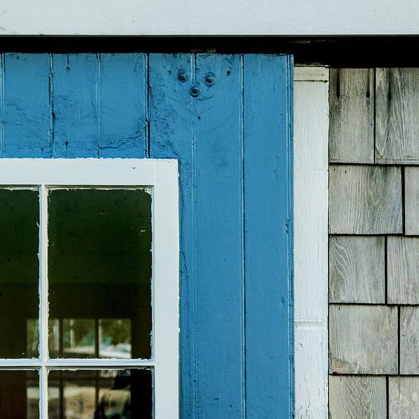 Old Door In Blue Poster