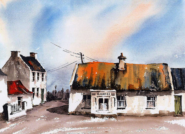 Cahill's Thatched Pub Galmoy Kilkenny Poster